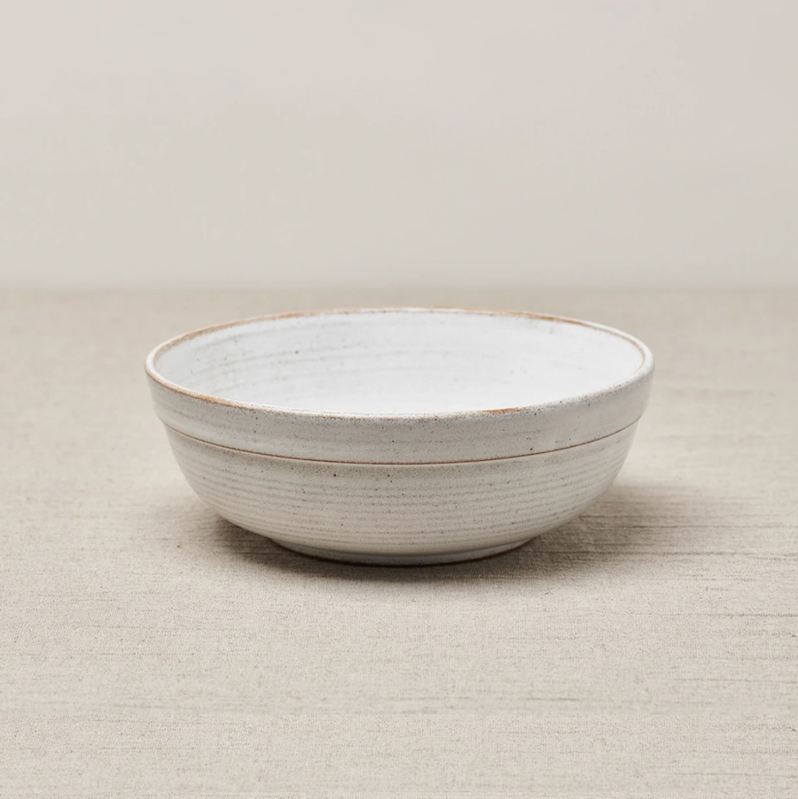 Cisco and the Sun Muji Salad Bowl Ceramic Brushed White