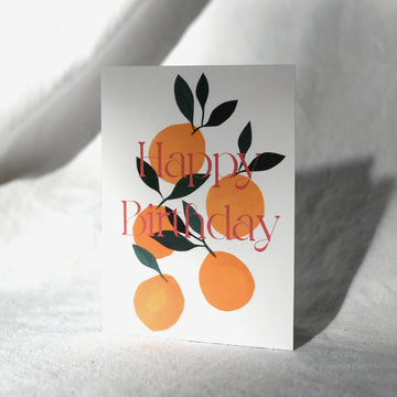 Five Peaches - Happy Birthday Card