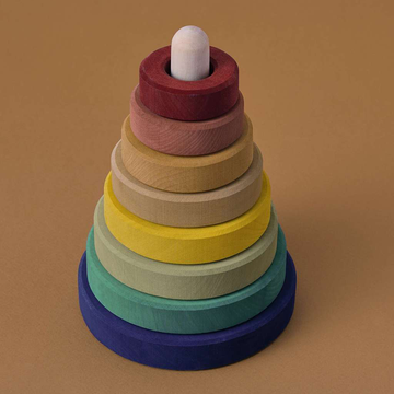 Wooden Stacking Tower- Earth