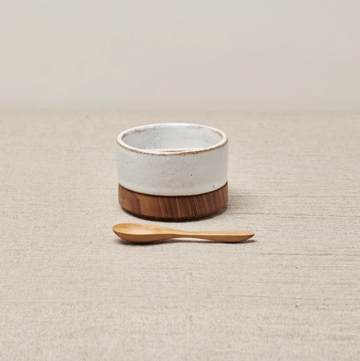 Rio Salt & Pepper Dish - Brushed White