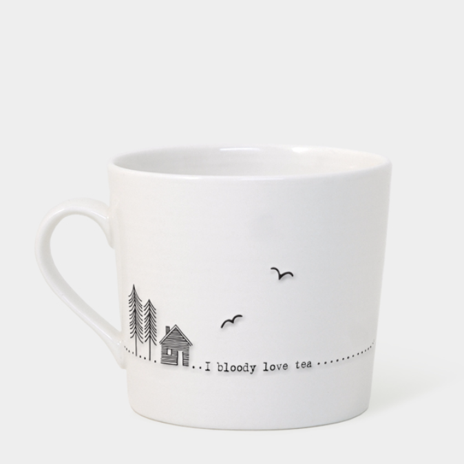 Porcelain Mug - I Bloody Love Tea