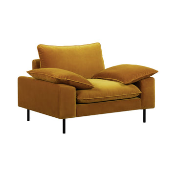 Studio Armchair Gold Velvet