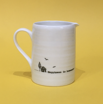 Porcelain Jug - Happiness is Homemade