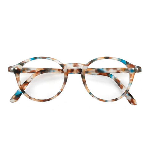 Reading glasses design D - blue tortoise