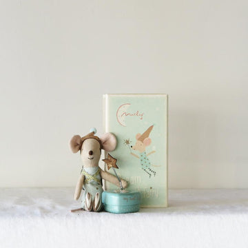 Matchbox mouse - Tooth Fairy Boy (with heart tin)
