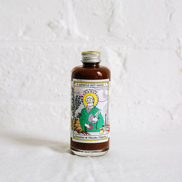 Apostle Hot Sauce St Matthew Chocolate and Manuka Chipotle Bottle