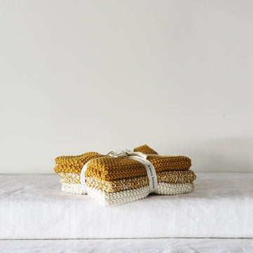 Lavette Ochre Washcloth - set of three