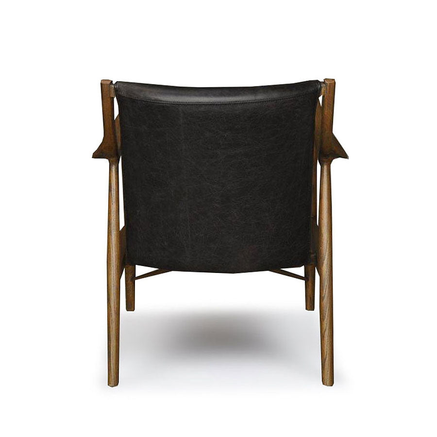 Ponui Armchair - Dark leather