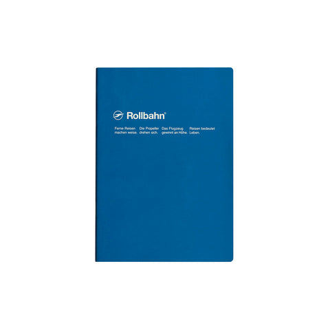 Rollbahn Slim Notebook - A5 Blue
