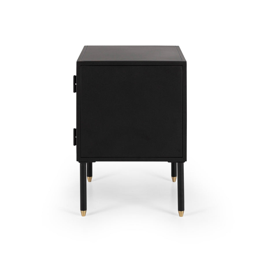 Papawai bedside table left opening side