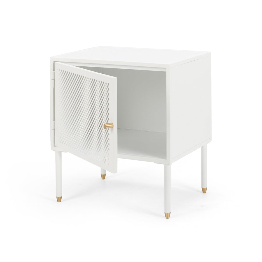 Papawai bedside table right opening front door open