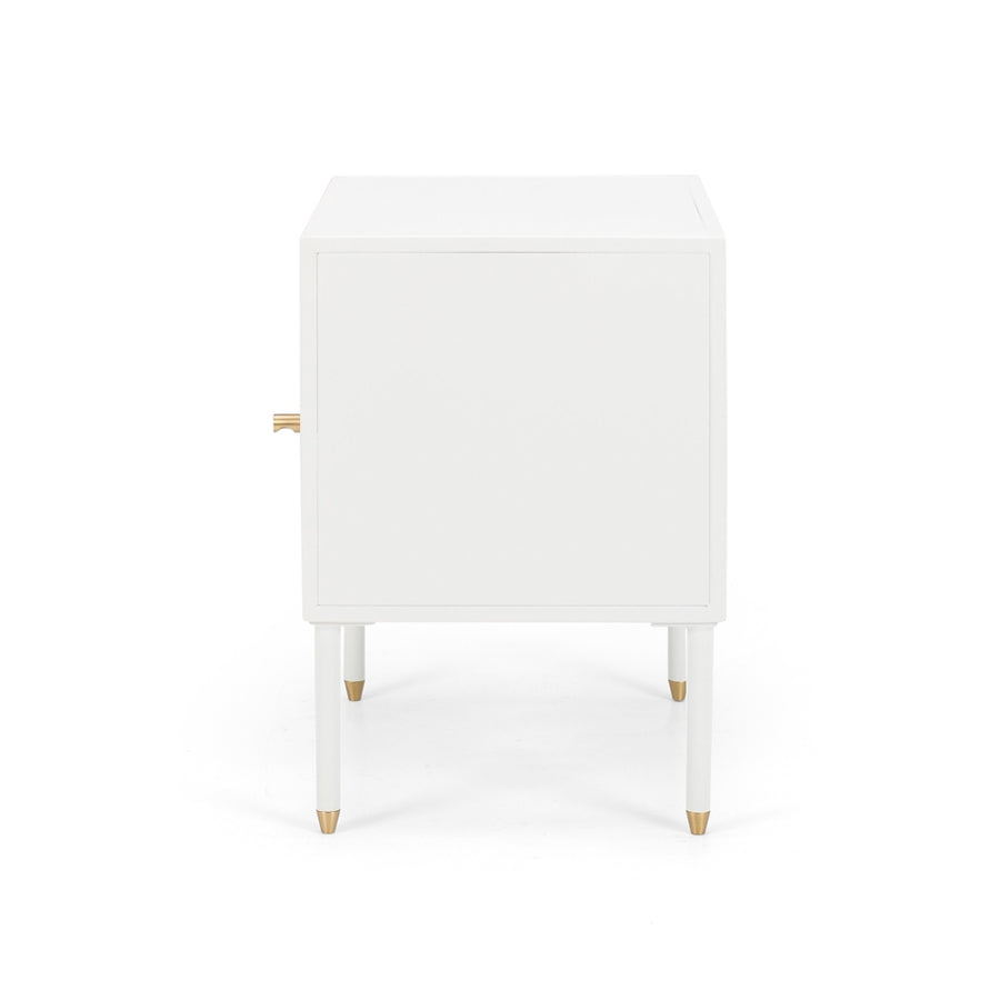 Papawai bedside table right opening side