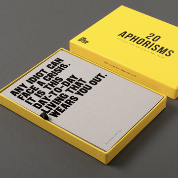20 Aphorisms card set