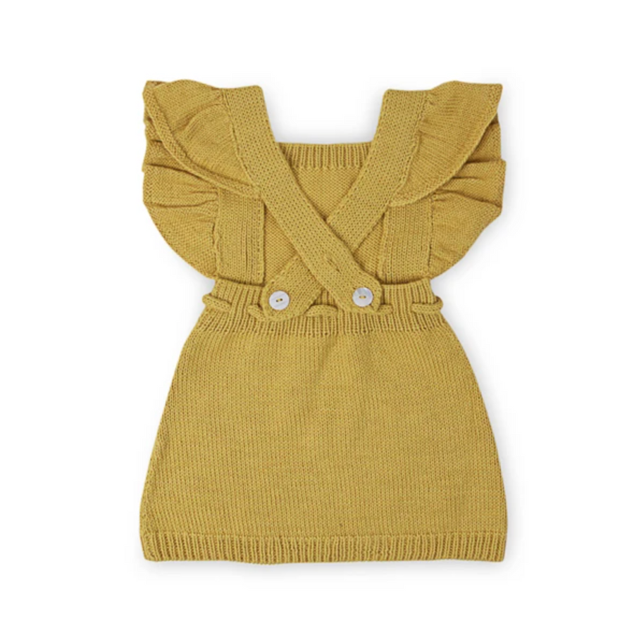 ANOUK Frilled Pinafore - Acid Yellow