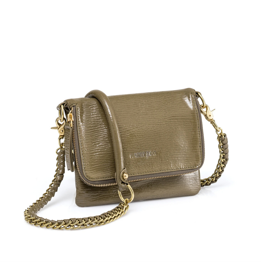 Bobi Bag - Khaki High Sheen