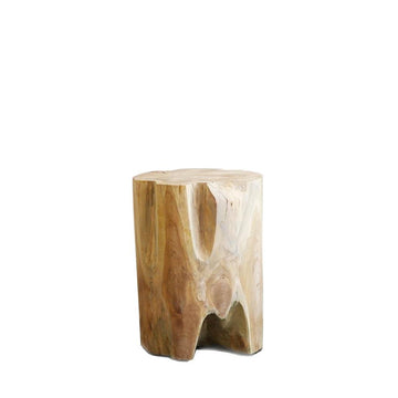 Teak root side table - Round