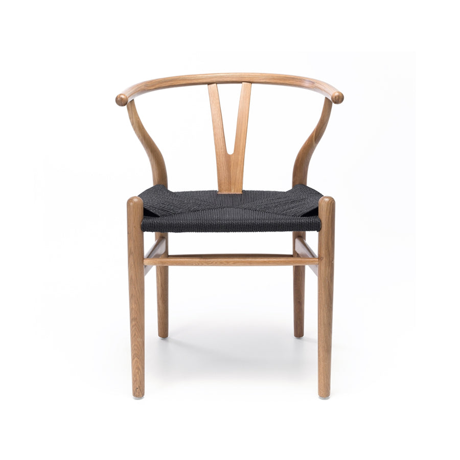 Wishbone Dining Chair - Natural & Black