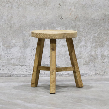 Parq Peasant Stool Round - High
