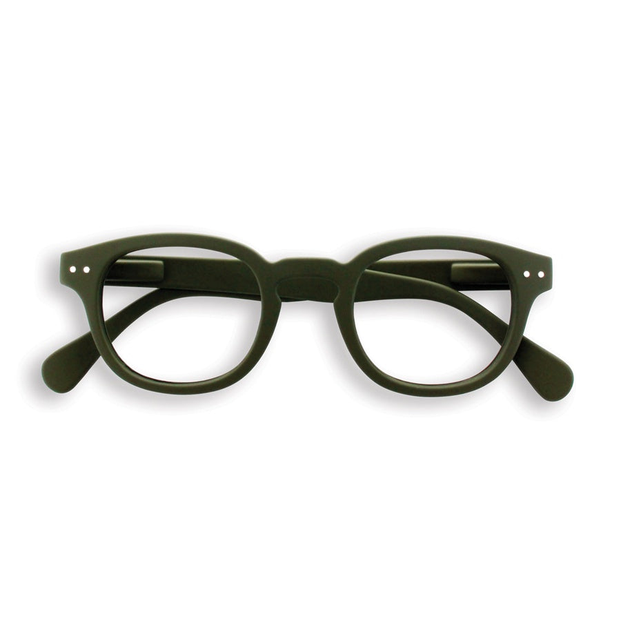Reading glasses design C - khaki green