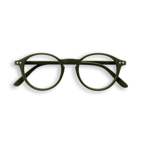 Reading glasses design D - khaki green