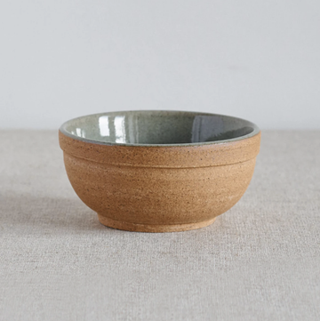 Cisco and the sun dewi rice ceramic bowl natural earth and green