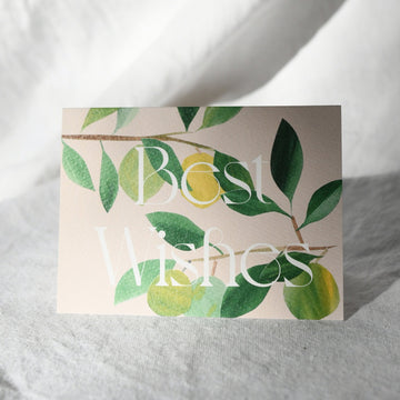 Lime Tree Branches - Best Wishes Card