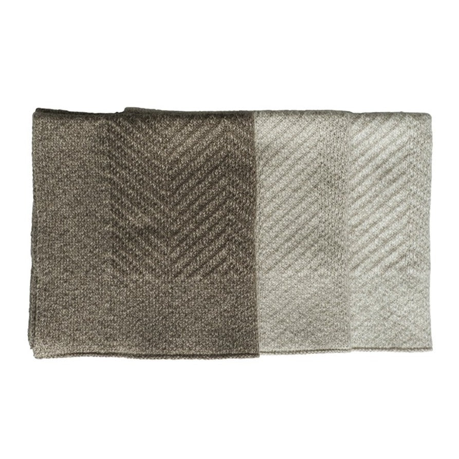Taupe Washcloths - Set of Three