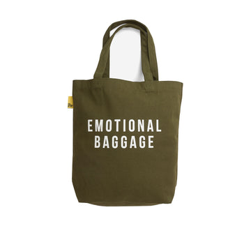 Emotional Baggage Tote - Khaki