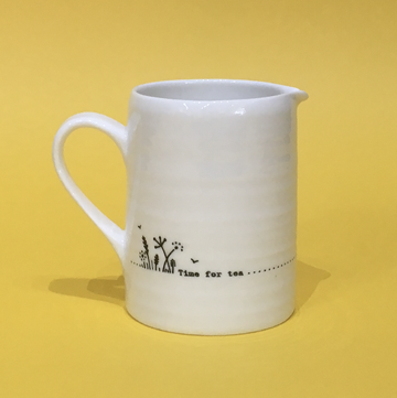 Porcelain Jug - Time for Tea