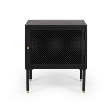 Papawai bedside table left opening front