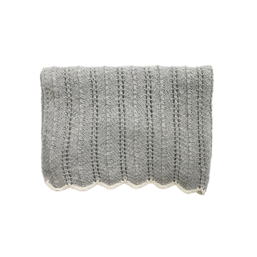 HEIRLOOM Lace Blanket - Silver
