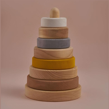 Wooden Stacking Tower- Sand