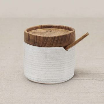 Ayu Sugar Bowl - Brushed White