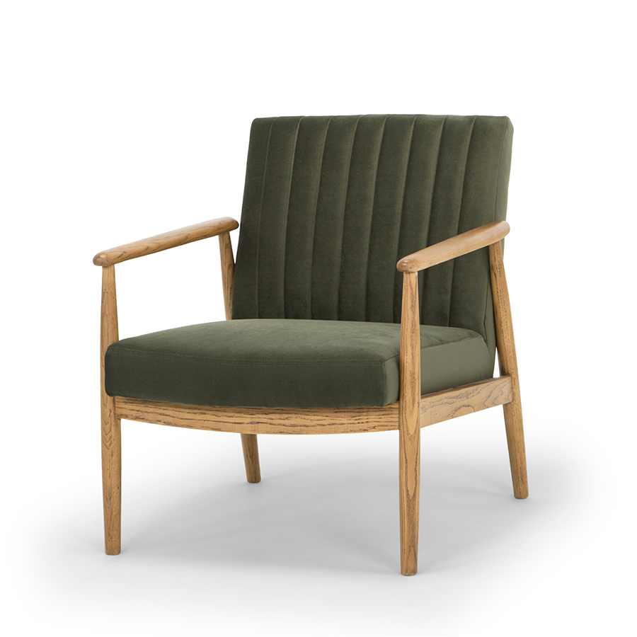 Rapaki armchair forest green angle view
