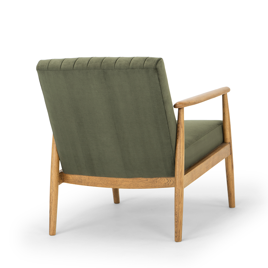 Rapaki armchair forest green back view