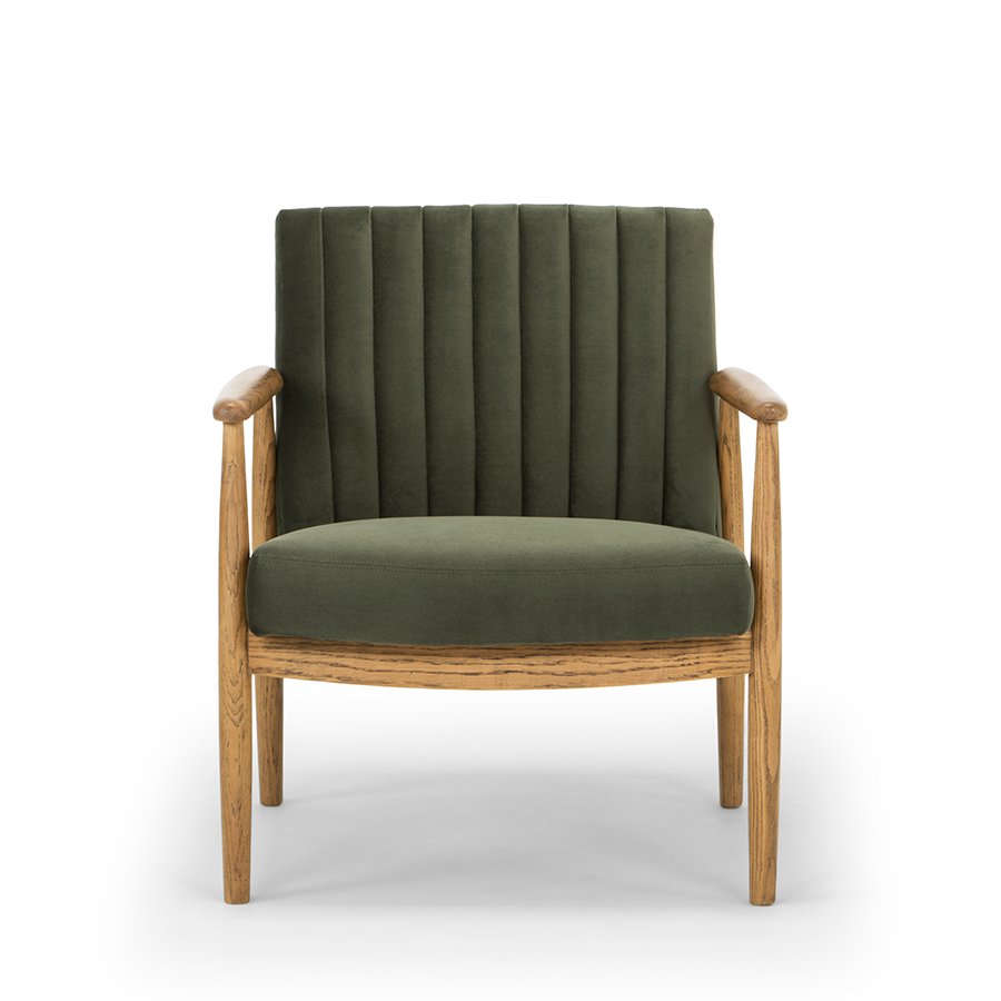 Rapaki armchair forest green front view