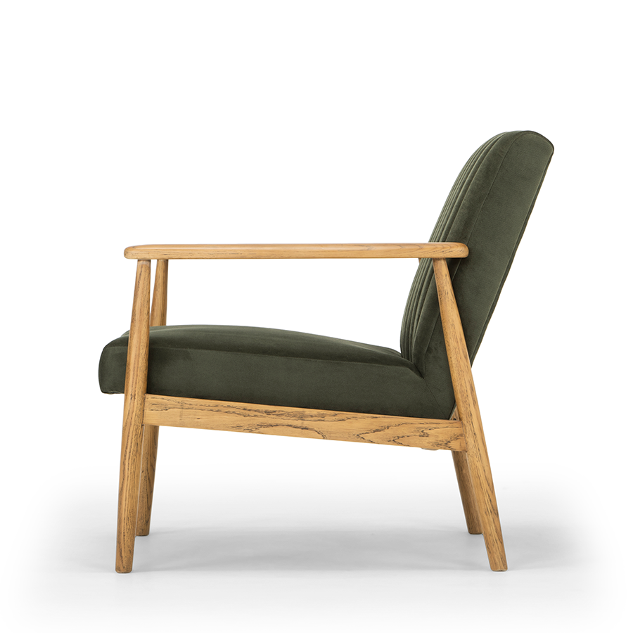 Rapaki armchair forest green side view