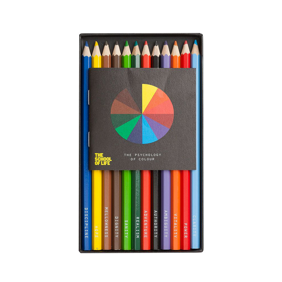 The psychology of colour - Set of 12 coloured pencils