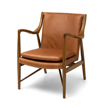 Ponui Armchair- Tan leather