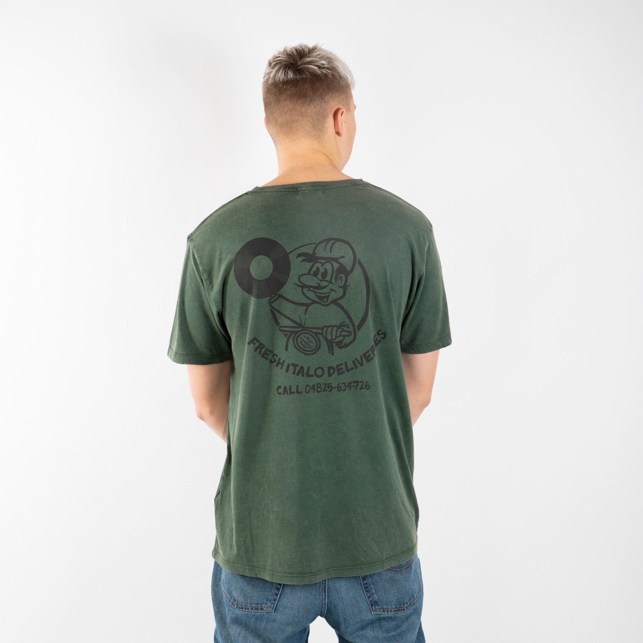 Fresh Deliveries Tee (Stone Wash Green)