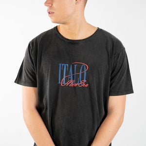 New Era Italo Tee (Stone Wash Black)