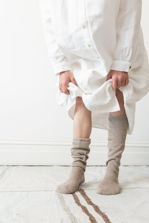Long Socks - Linen