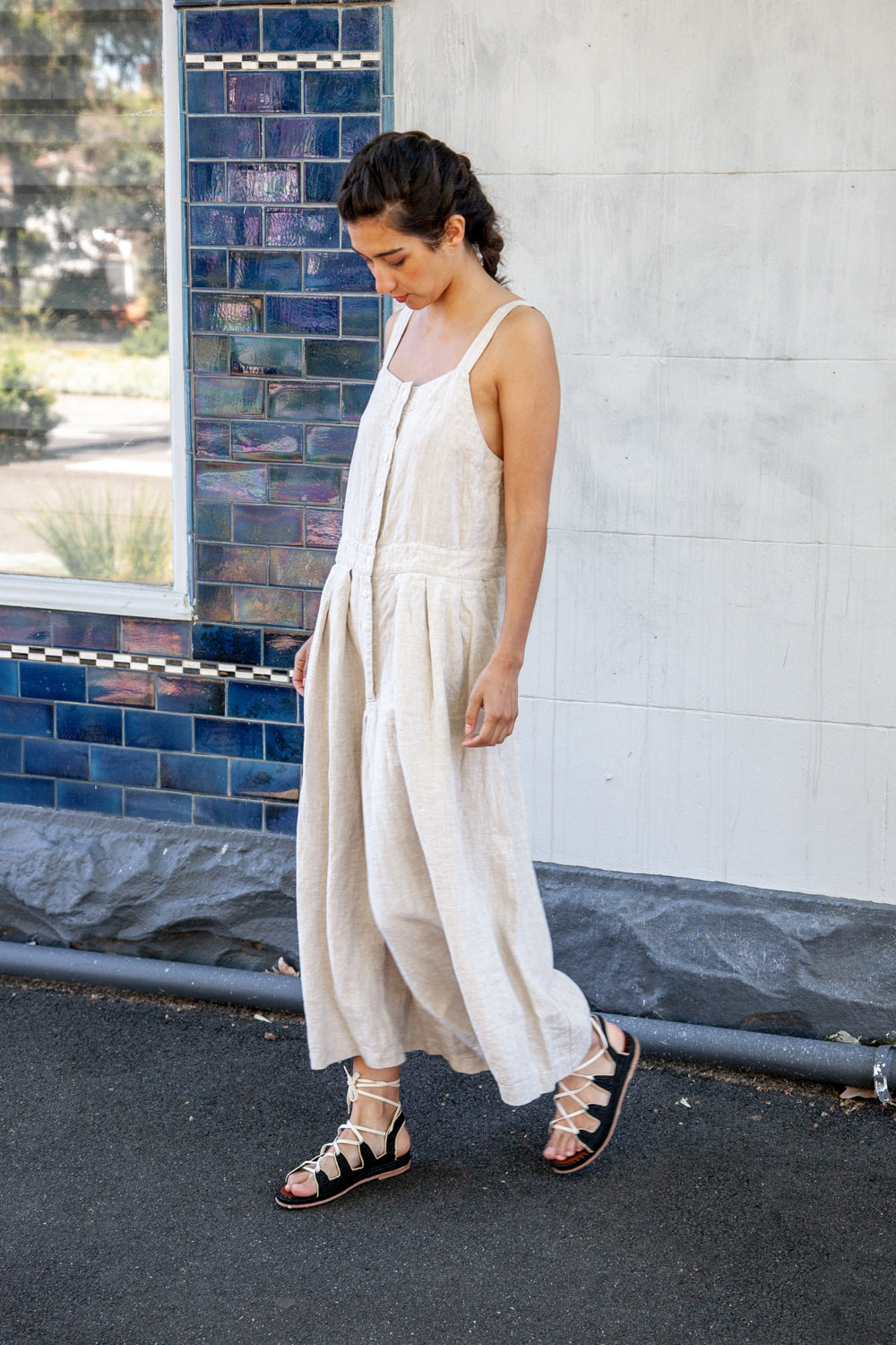 Blair Jumpsuit - Mid Weight Linen