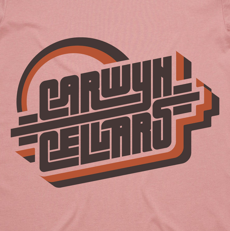 Carwyn Cellars Retro Shirt (ROSE)