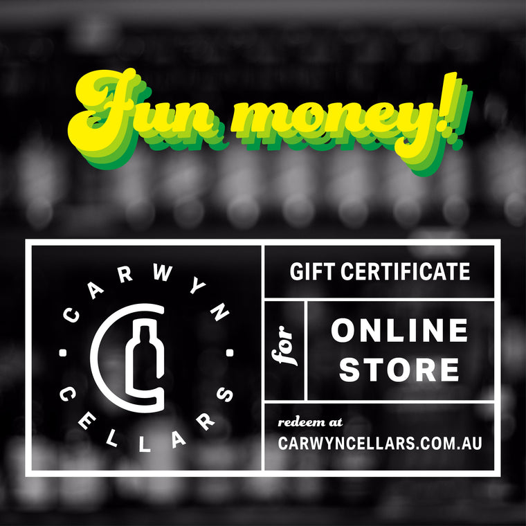 Online Store Fun Money Gift Certificate