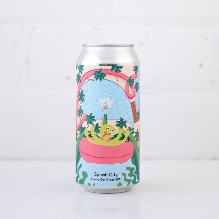 Tallboy & Moose Splash City Guava Oat Cream IPA Can 440ml
