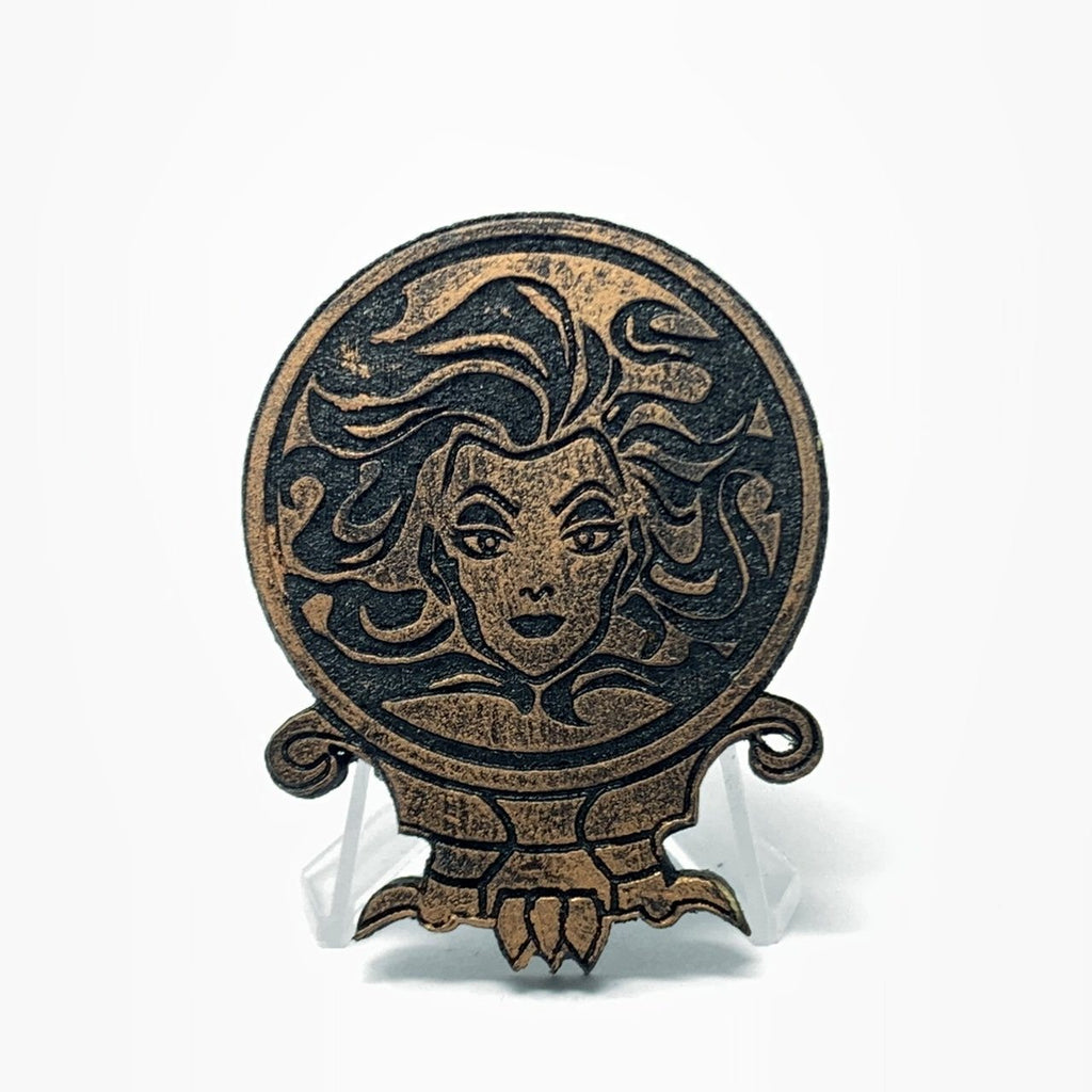 Madame Leota (Wood Pin) - Antique Copper