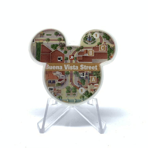 Mouse Map Acrylic Brooch - Buena Vista Street Map