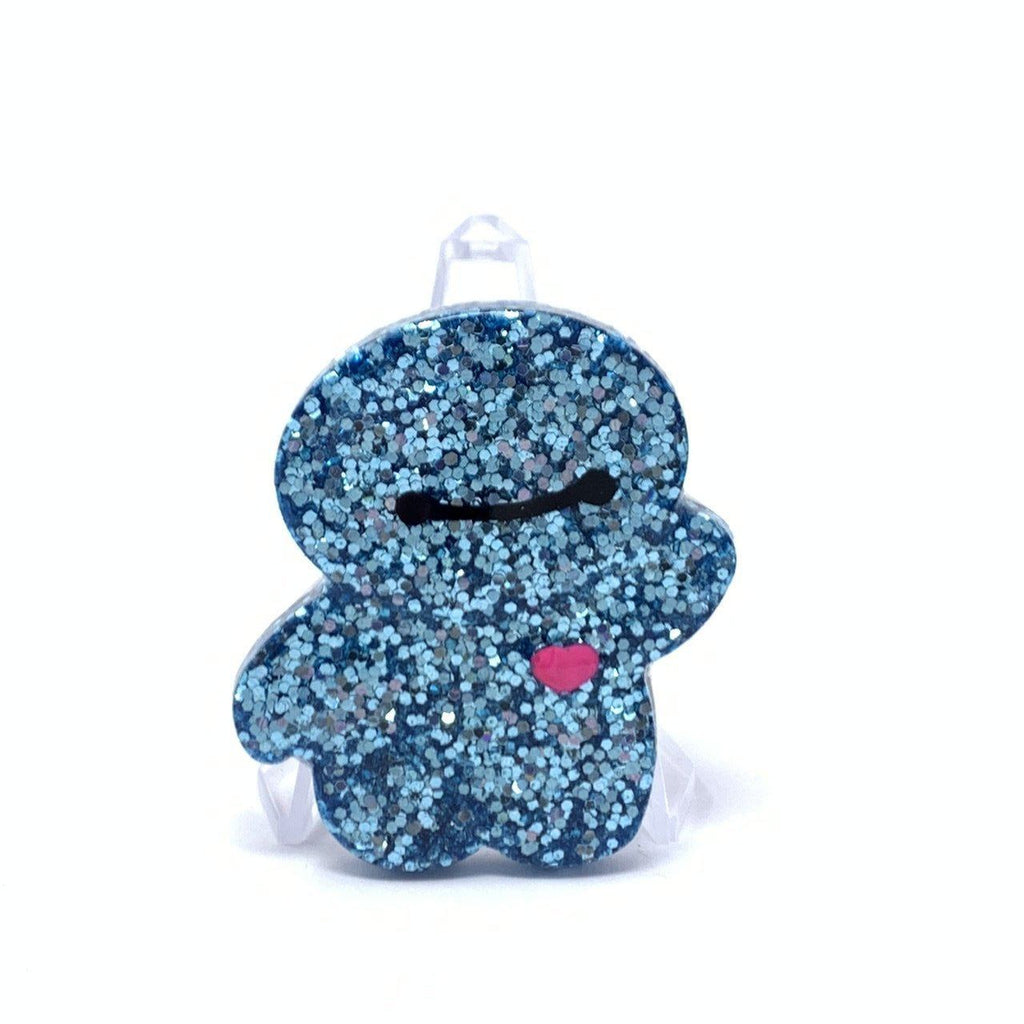 Resin Pin - Light Blue Glitter Baymax