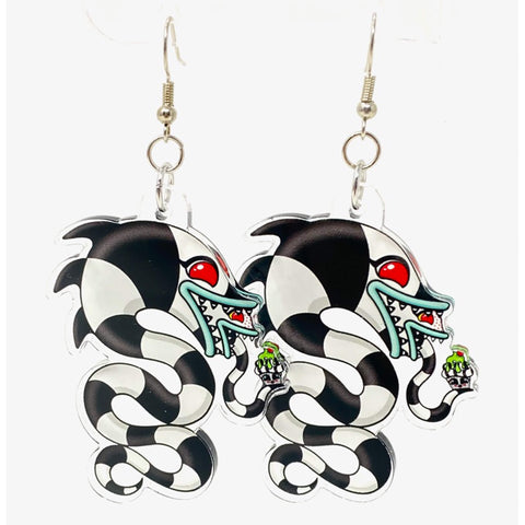 Sandworm Acrylic Earrings